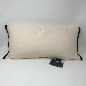 Waterford Rectangular Throw Pillow Cream Black